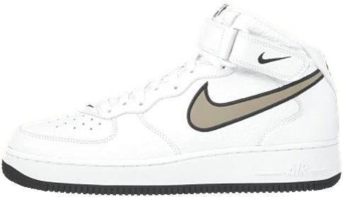 Nike Air Force 1 (Ones) 1998 Mid SC White / Khaki - Obsidian