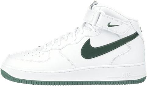 Nike Air Force 1 (Ones) 1998 Mid SJ White / Jade Green