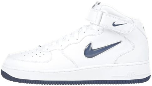 Nike Air Force 1 (Ones) 1998 Mid SJ White / Midnight Navy