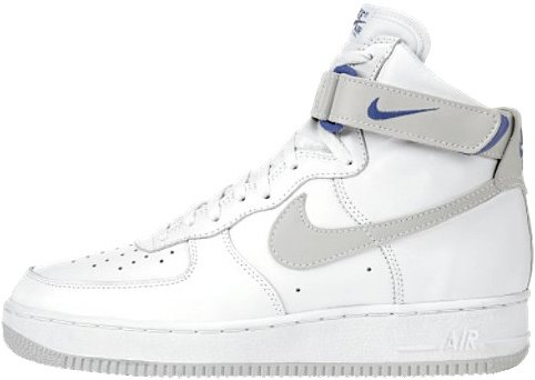 Nike Air Force 1 (Ones) 1995 High White / Light Zen Grey – Ultramarine
