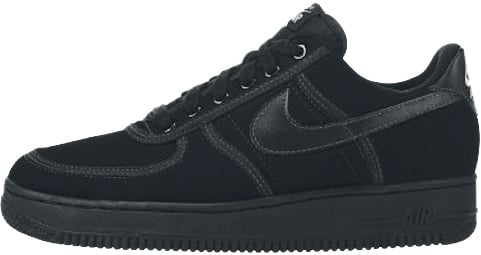 ee4b76e4997 Nike Air Force 1 (Ones) 1995 Low Canvas Black   Black - White ...