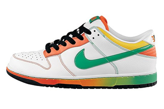 separation shoes 03e1e a8810 Nike Dunk Low 6.0 - White / Green / Orange - Grey / Neon ...