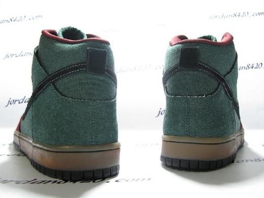 Nike SB Dunk High Premium - Green / Red