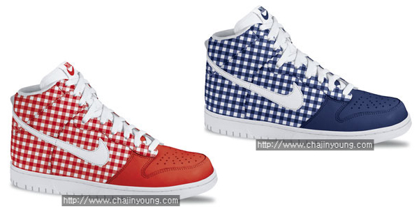 Nike Skinny Dunk High Blue White Red White