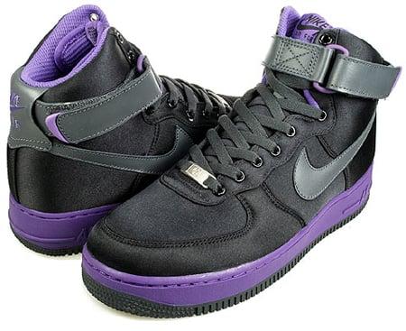 Nike Womens Air Force 1 High Black Anthracite Varsity Purple