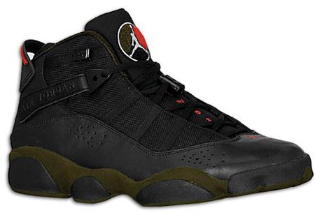 af48961b02d hot sale Release Date Reminder Air Jordan Six Rings LS Black White Dark  Army Varsity Red