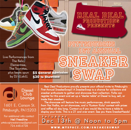 1st Annual SNEAKERSWAP - Pittsburgh, PA