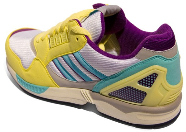 adidas ZX 9000 -  Yellow / Silver / Light Blue / Violet