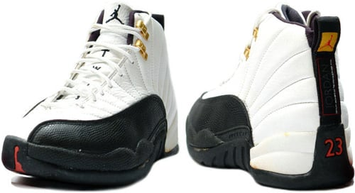 Nike Air Jordan 12 Taxis Xii Retro Negro Y Blanco