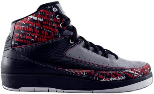 Air Jordan 2 (II) Retro Eminem Black / Stealth - Varsity Red