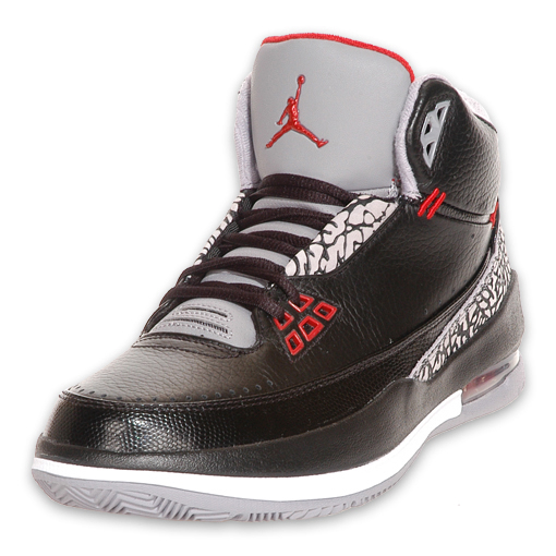 Air Jordan 2.5 Black Varsity Red Cement Grey White