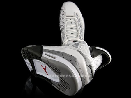 Air Jordan Dub Zero - White / Varsity Red - Black - Cement Grey