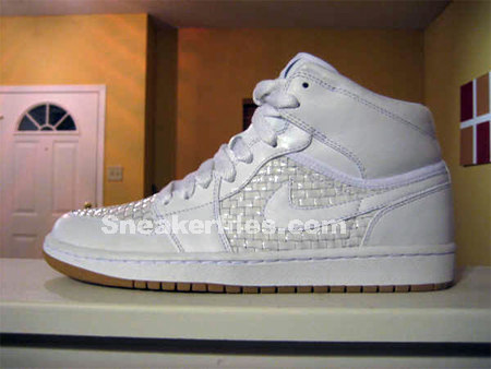 Air Jordan I (1) High Premier - White / Metallic Platinum