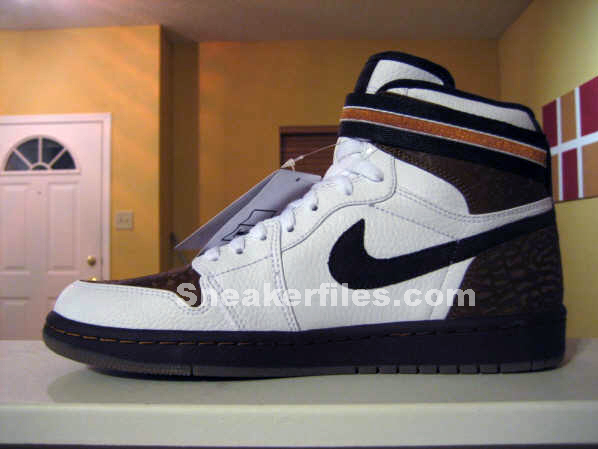 Air Jordan I (1) Retro High Strap - White / Brown / Black