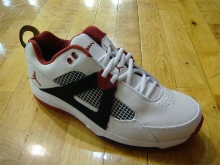 Air Jordan Quatro - White / Varsity Red - Black