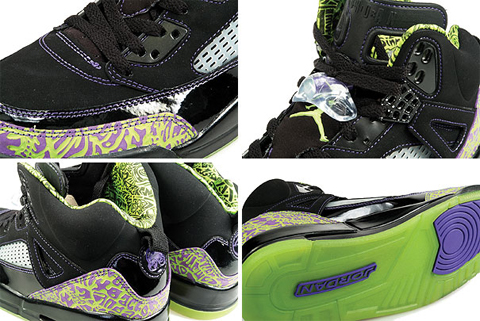 Air Jordan Spizike - Black / Citron - Pure Purple - White
