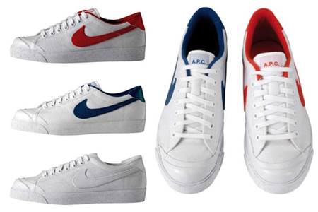 A.P.C x Nike All Court Collection Red Blue White