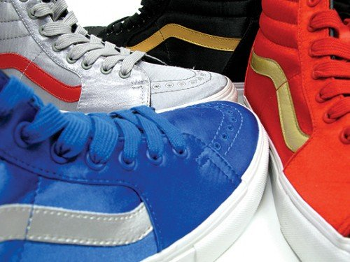 HUF x Vans SK8-HI Satin Pack Now Available