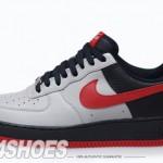 Nike Air Force 1 (One) Low – Medium Grey / Varsity Red – Black