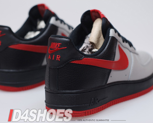 Nike Air Force 1 (One) Low Medium Grey Varsity Red