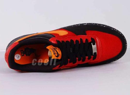 Nike Air Force 1 - Varsity Red / Mandarin - Black - Anthracite   ACG Wildedge