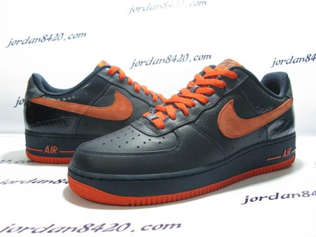 Nike Air Force 1 (One) Low - Navy Orange 1