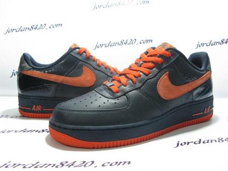 Nike Air Force 1 (One) Low - Navy Orange 1