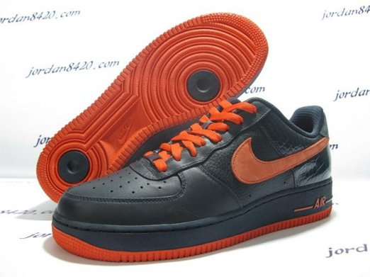 Nike Air Force 1 (One) Low - Navy Orange 2