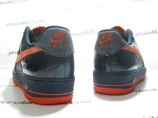 Nike Air Force 1 (One) Low - Navy Orange 3