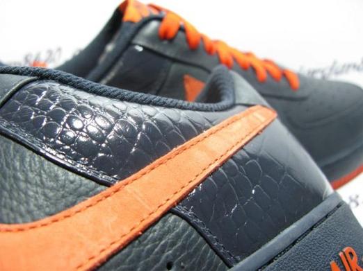 Nike Air Force 1 (One) Low - Navy Orange 4