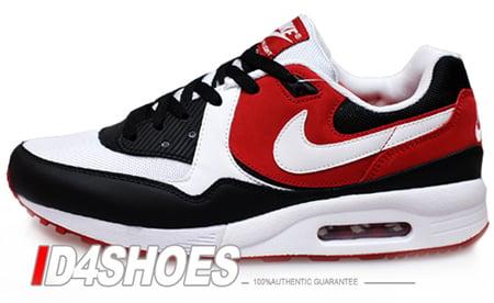 Nike Air Max Light - White / White - Black - Varsity Red | I Love TB