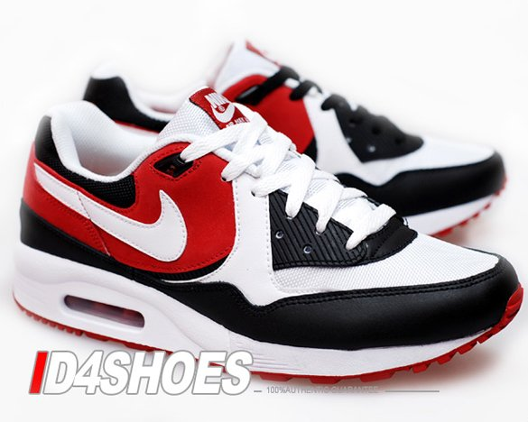 Nike Air Max Light - White / White - Black - Varsity Red | I Love