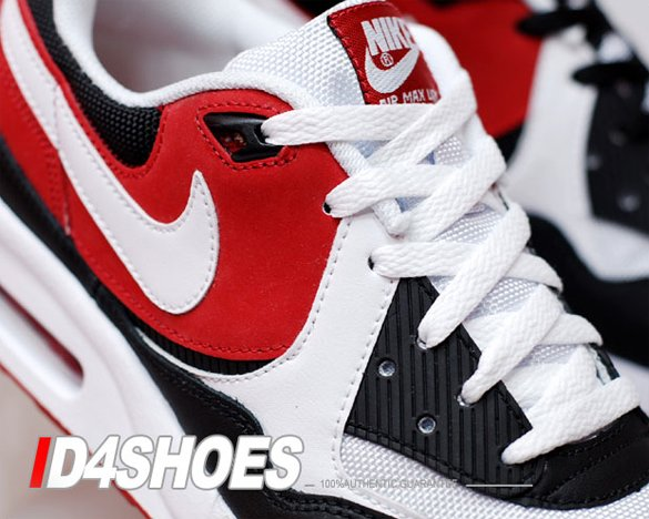 Nike Air Max Light - White / White - Black - Varsity Red | I Love TB