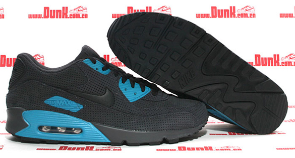 Nike Air Max 90 - Anthracite / Black - Neon Turquoise