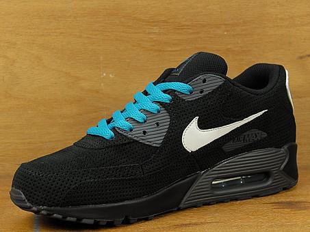 Nike Air Max 90 - Black / Anthracite / White / Neon Turquoise