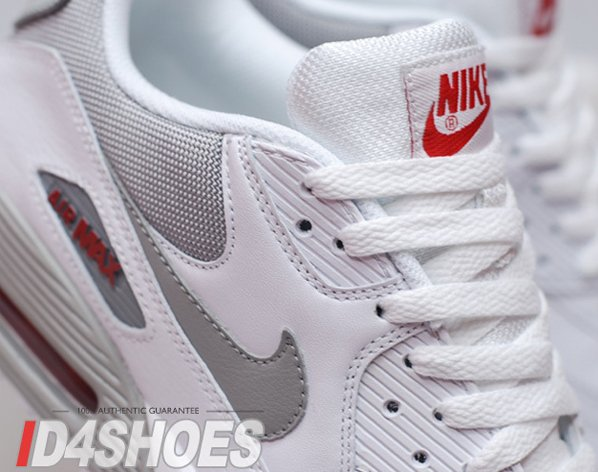 Nike Air Max 90 Quickstrike White Medium Grey Varsity Red