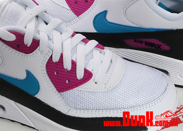 Nike Air Max 90 - White / Neon Turquoise - Rave Pink
