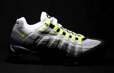 Nike Air Max 95 Classic LE - Neutral Grey / Neon Yellow - Dark Charcoal