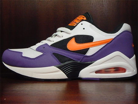 Nike Air Tailwind '92 - White / Orange Blaze / Varsity Purple - Black