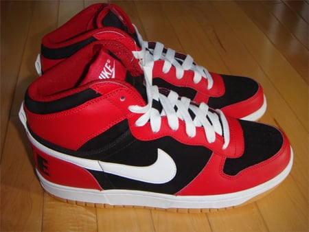 Dressed in varsity red, white, black and gum yellow, the Big Nike High
