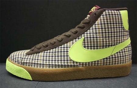 Nike Blazer Mid - Brown / Volt - Dark Cinder
