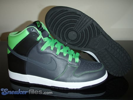 Nike Dunk High - Anthracite / Anthracite - Mean Green