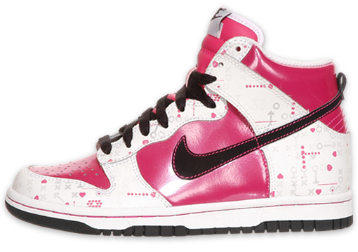 Nike Dunk High (GS) - White / Pink / Black | Valentine's Day