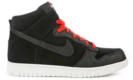 Nike Dunk High Premium - Black / White / Red