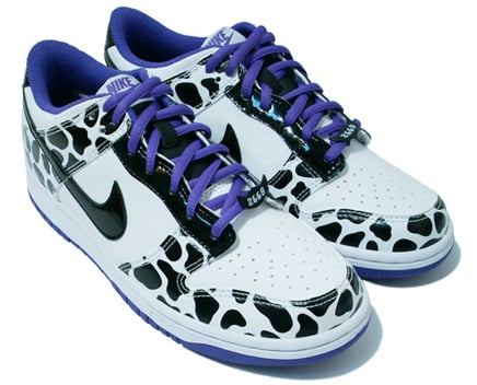 Nike Dunk Low GS - White / Black / Purple