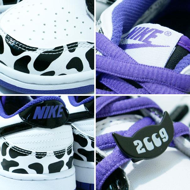 Nike Dunk Low GS - White / Black / Purple