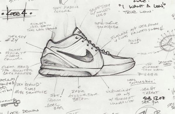 Nike Unveils The Zoom Kobe IV (4) Sketch