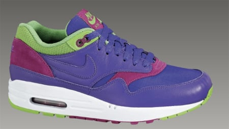 Nike Womens Air Max 1 - Pure Purple / Pure Purple - Mean Green - Rave Pink