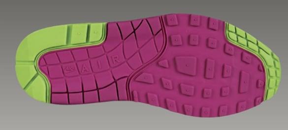 Nike Womens Air Max 1 Pure Purple Mean Green Rave