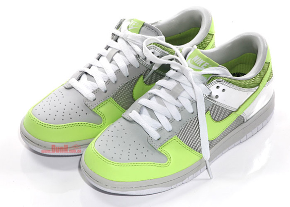 Nike Womens Dunk Low Premium - Neutral Grey / Citron / White